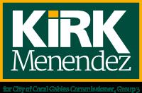 Kirk Menendez for City of Coral Gables Commissioner, Group 3 Logo